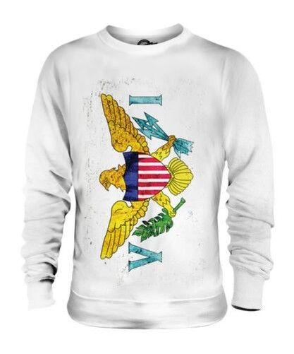 US VIRGIN ISLANDS GRUNGE FLAG UNISEX SWEATER TOP GIFT SHIRT CLOTHING JERSEY