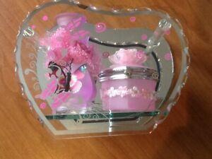 boîte à bijoux - Art déco - vase - fleur -miroir