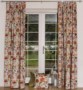 McAlister Textiles Renoir Floral Orange Spice Curtains