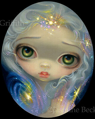 Jasmine Becket-Griffith pop art print fairy stars space SIGNED Stardust Angel