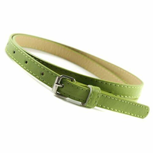 Ladies Women Girls Adjustable Skinny Thin PU Faux Leather Waist Belt Waistbelt
