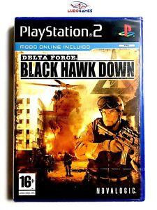 Noir-Hawk-Down-Delta-Force-PS2-Neuf-Scelle-Videojuego-Scelle-Nouveau-Spa