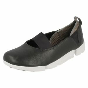 Damas negro Casual Shoes Tri Clarks Step rn1Yqra