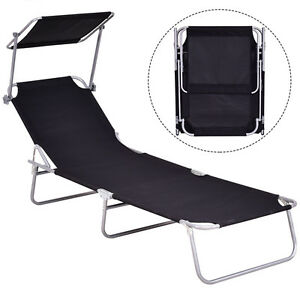 Image Is Loading Sun Lounge Bed Chair Beach Recliner Garden Patio