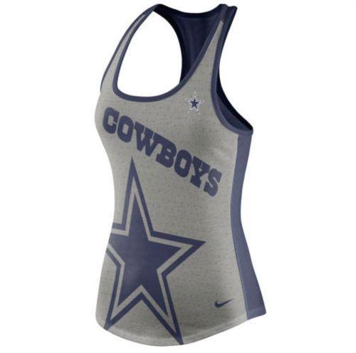NFL Dallas Cowboys Nike Touchdown Tri-blend Performance Women s Tank Top -  Gray for sale online  5e36c4f74