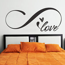 Love Infinity Wall Sticker Symbol Headboard Quote Vinyl Room Removable Art Decor
