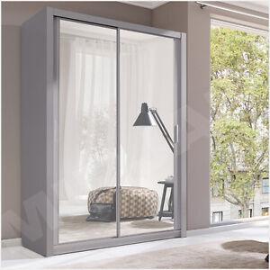 schwebet renschrank kleiderschrank trysil 150 schrank schiebet r grau weiss. Black Bedroom Furniture Sets. Home Design Ideas
