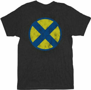 X-Men-Distressed-X-Logo-Black-Adult-T-Shirt