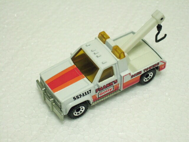 Matchbox rare preproduction mb21 gmc Wrecker   Frank's  Amber clear Window