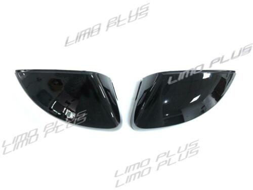Gloss Black Mirror Cover Caps for AUDI A3 8V S3 RS3 14-2020 With Lane Assist