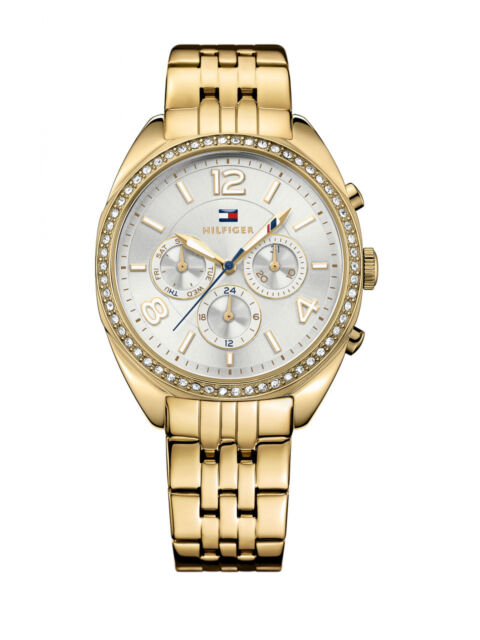 8210c178 Tommy Hilfiger Women's 1781573 Mia Crystal Gold Stainless Steel Watch