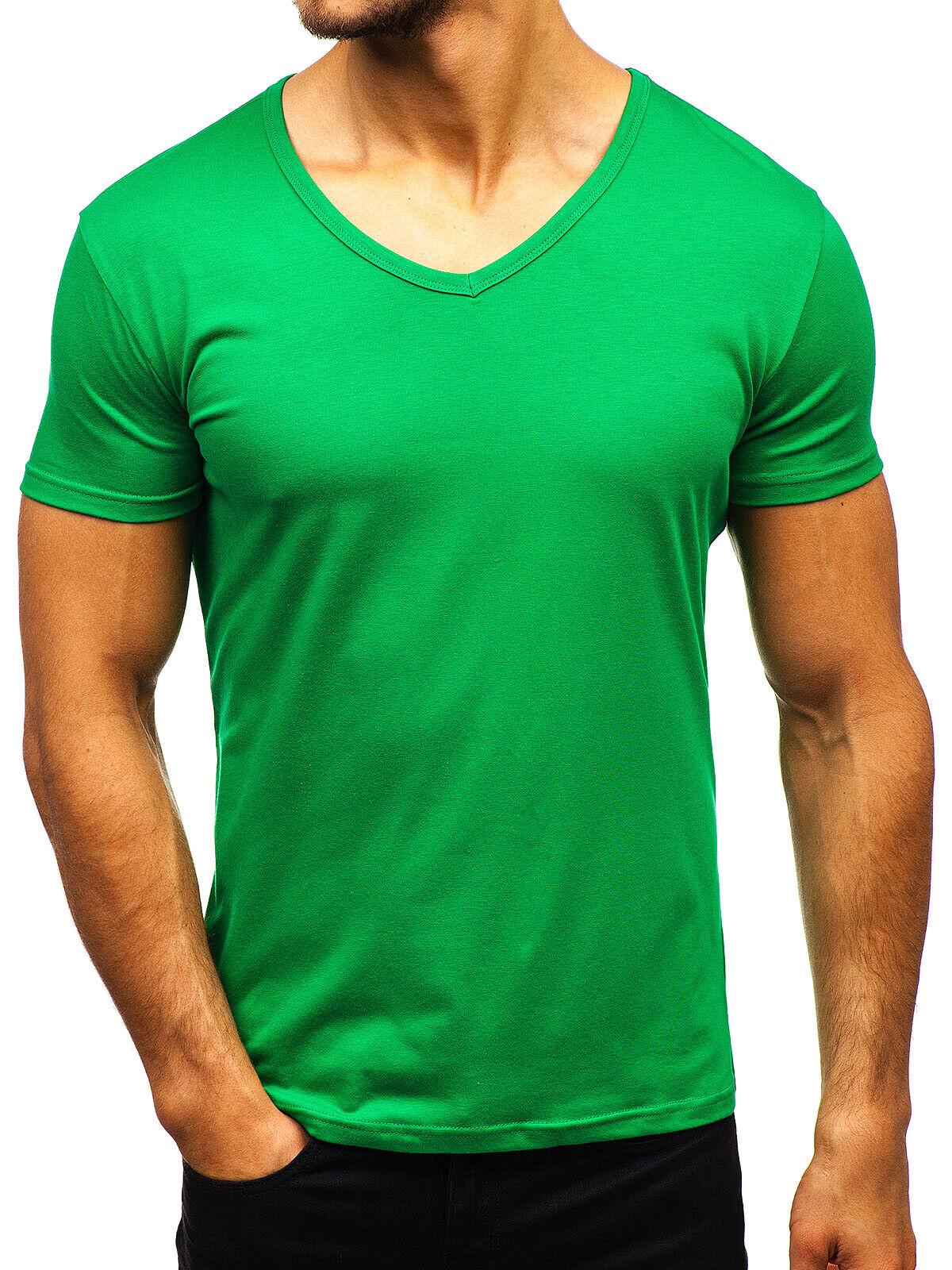 T-Shirt Tee Kurzarm V-Ausschnitt Classic Casual Unifarben Herren BOLF 3C3 Basic