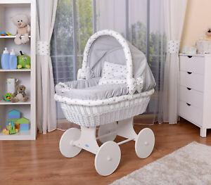 WALDIN Baby Bollerwagen,Stubenwagen,komplett mit Zubehör,XXL NEU !! Grau