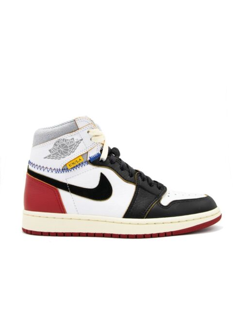 8da5481d8c88 Nike Air Jordan 1 Retro High Union Los Angeles LA Black Toe Size 9 - BV1300