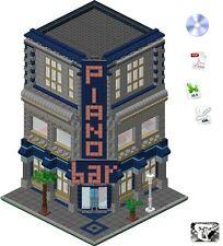 Lego®  ISTRUZIONI / INSTRUCTIONS - Piano Bar - (Custom Modular Building)