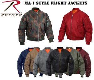 89c949c9fadd MA-1 Bomber Jacket Flight Coat Air Force Military Rothco MA-1 Flight ...