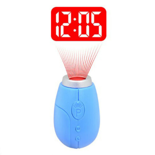 Portable Mini Tiny With Key Ring LCD Projector Digital Clock Projection Clock