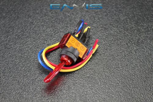 2 PCS TOGGLE SWITCH ON OFF RED ROCKER LED 12V 20 AMP 3 PIN IS-EC-IT1220RED
