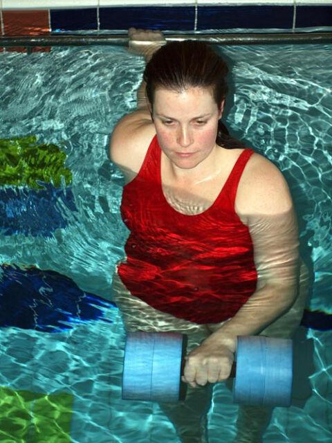 Water Aerobics Dumbbell Aquatic HEAVY Buoy Barbell Aqua Fitness Running NEW 6014
