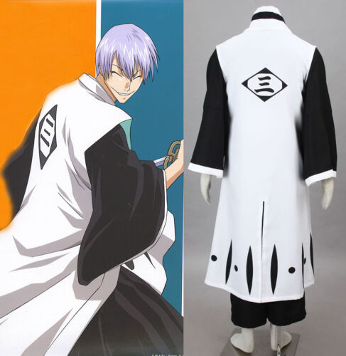 BLEACH Ichimaru Gin Cosplay costume Kostüm manga kimono 3rd Division Gotei 13
