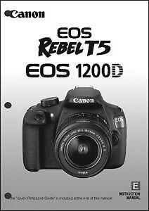 canon rebel t5 eos 1200d digital camera user instruction guide rh ebay com canon eos rebel xs digital camera manual canon digital rebel xt dslr camera manual