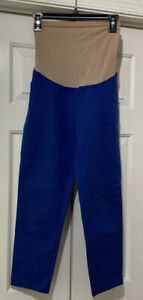 Motherhood-Maternity-Blue-Cropped-Pants-Size-Small