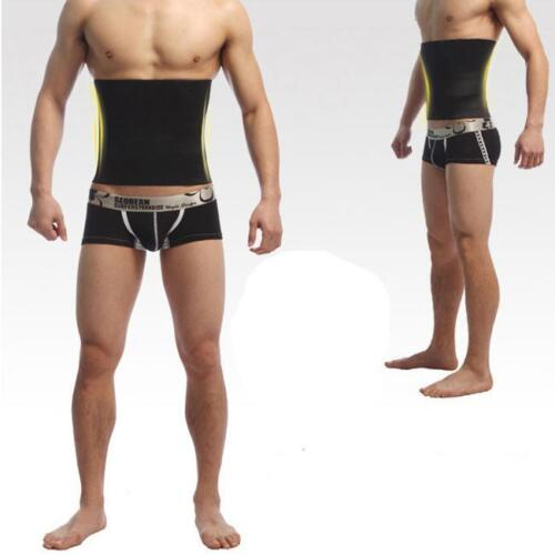 Men Waist Trainer Slim Body Shaper Tummy Girdle Belt Belly Fat Burner Corset KS