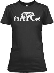 Mama-Bear-T-With-Three-Cute-C-Gildan-Women-039-s-Tee-T-Shirt