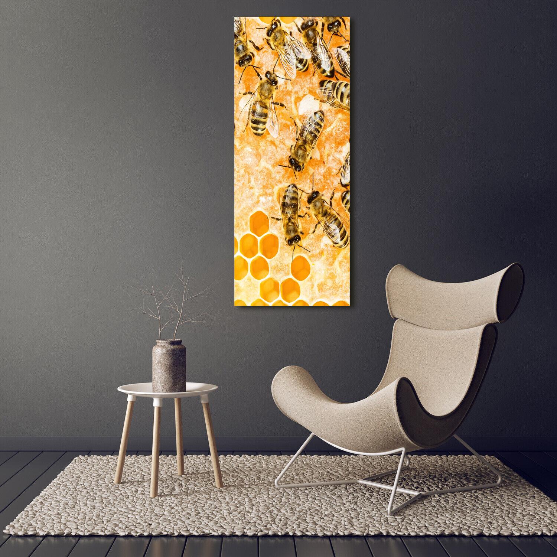 Leinwand-Bild Kunstdruck Hochformat 50x125 Bilder Honigbienen
