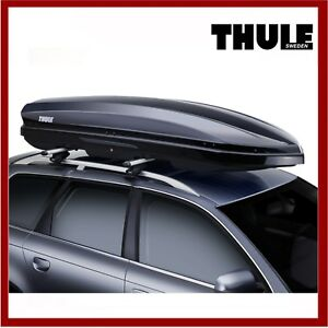 Thule Dynamic 800 M Car Roof Box Black Gloss Top Box Storage Brand New Ebay