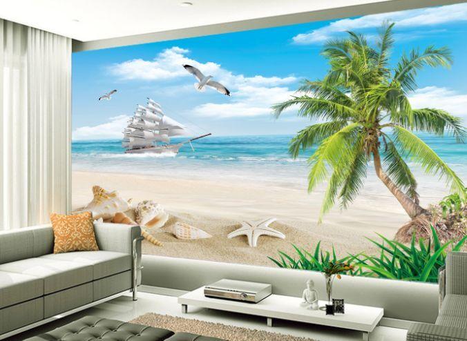 3D Starfish Shell Beach3 Paper Wall Print Decal Wall Wall Murals AJ WALLPAPER GB