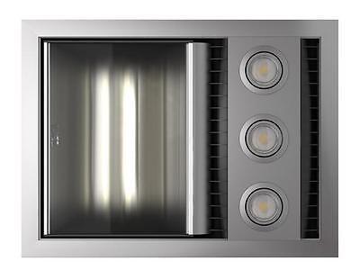 NEW IXL Tastic Neo Single Bathroom Heater Fan Light, Silver Fascia, Hardwired