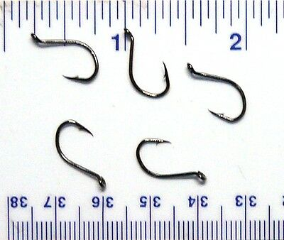 1000 Danielson HCBOBN Black Chrome Octopus Fish Hooks Sizes 8,6,4,2,1//0,2//0