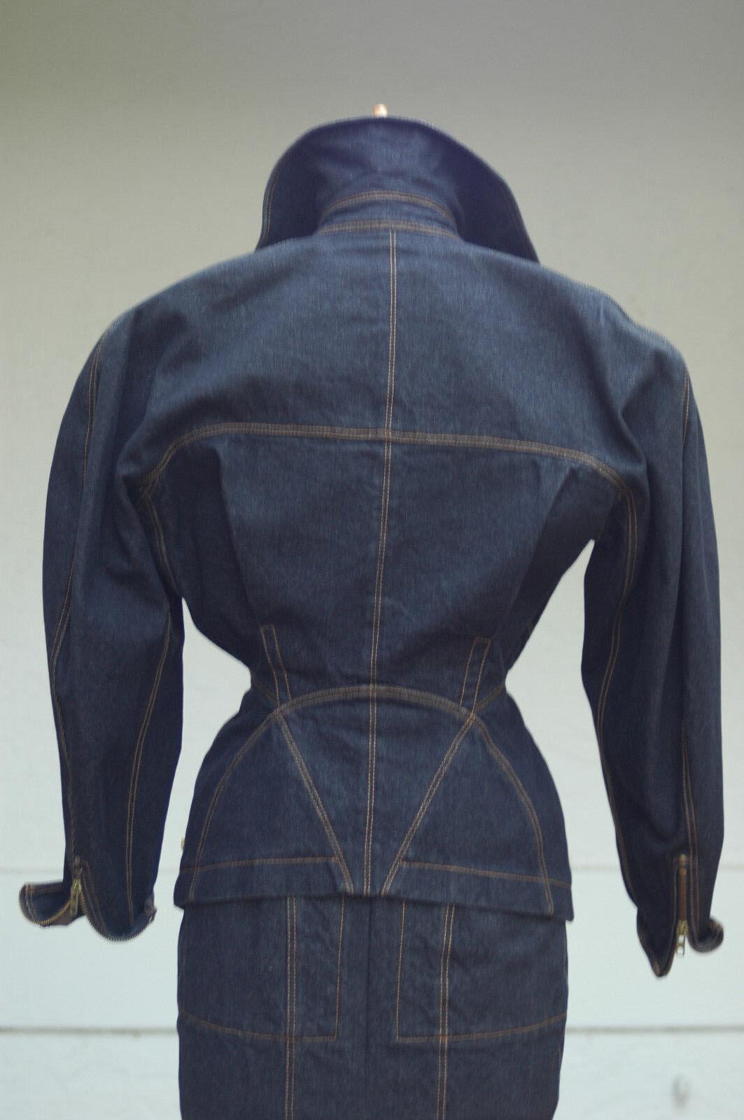 Iconic Azzedine Alaia vintage denim jacket and sk… - image 5