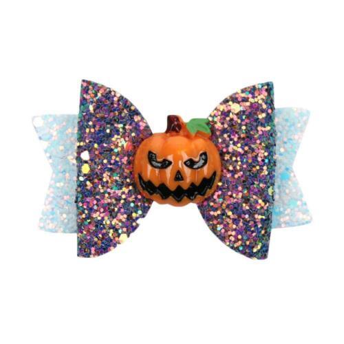 Cute Halloween Ghost Spider Pumpkin Bow Hair Clip Hair Accessories for Girl Kids