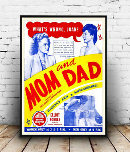 Mom-amp-Dad-Vintage-Movie-advertising-Reproduction-poster-Wall-art