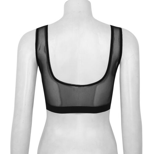 Women/'s Floral Lace See Through Bralet Bra Bustier Cami Unpadded Tank Tops Crop