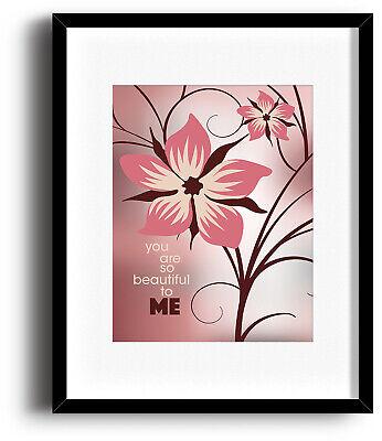 Joe Cocker /'You Are So Beautiful/' Wedding Gift Favourite Lyrics Framed print