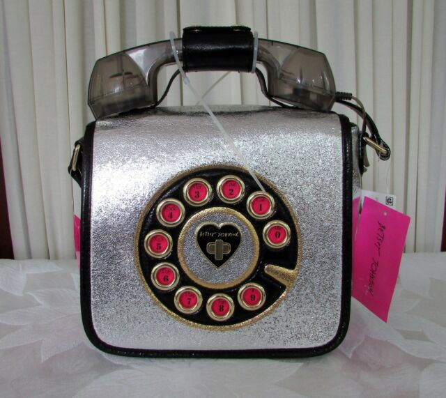 a11506712 Betsey Johnson off The Hook Phone Cross Body Silver B3 for sale ...