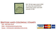 SG 153 4d sage green plate 15. Very fine used Bristol CDS, good colour and...