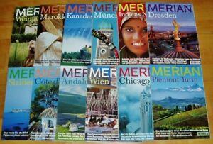 12x-Merian-1999-komplett-52-Jahrgang-Hefte-1-12-Zeitschrift-Reise-Europa-Welt