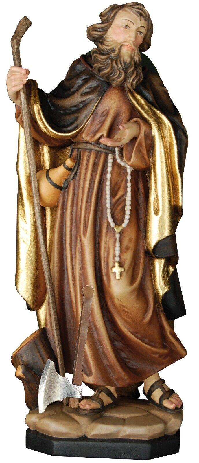 San Giovanni Gualberto mit Axt , st. John Gualbert with Ax wooden Statuen