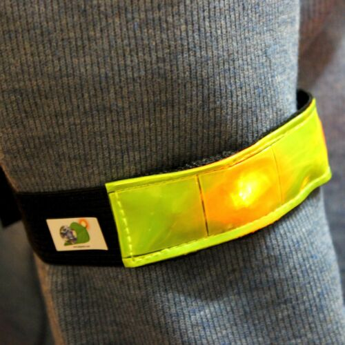 High Visibility Reflective for Running Set of 2 LED Safety Armbands