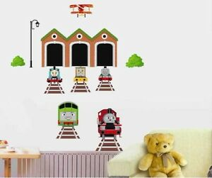 thomas and friends train removable wall sticker decals. Black Bedroom Furniture Sets. Home Design Ideas