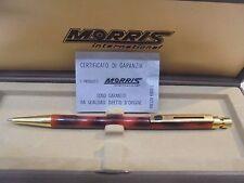 PENNA a sfera MORRIS placcata oro VINTAGE nuova da negozio-Ball pen gold plated