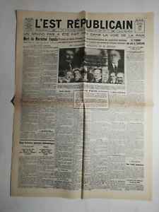 N496-La-Une-Du-Journal-L-039-est-republicain-28-aout-1928-mort-du-Marechal-Fayolle