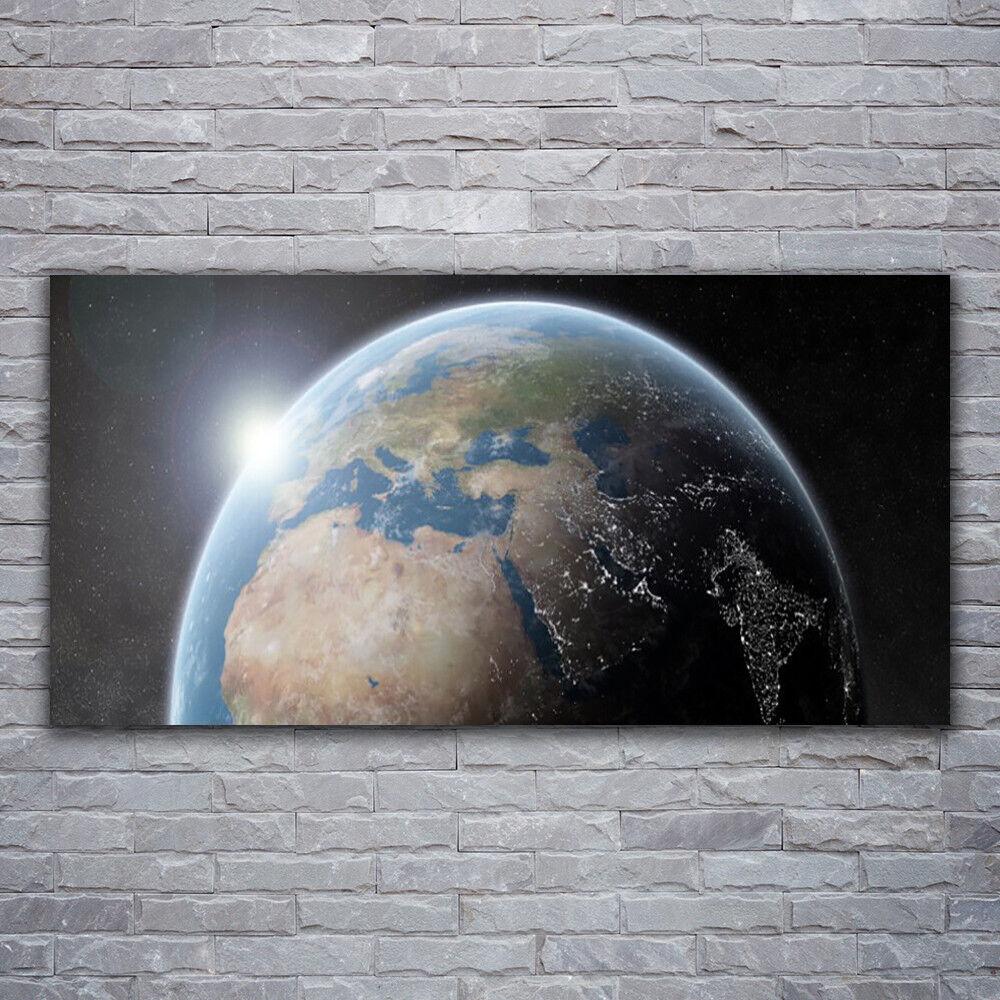 - Tela Immagini Immagine Parete Tela Stampa d'Arte 120x60 GLOBO spazio