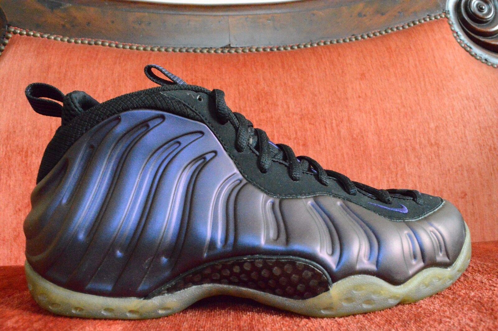 Nike Air Foamposite One 1 Black/Varsity Purple Eggplant 2009 314996-051 Size 9