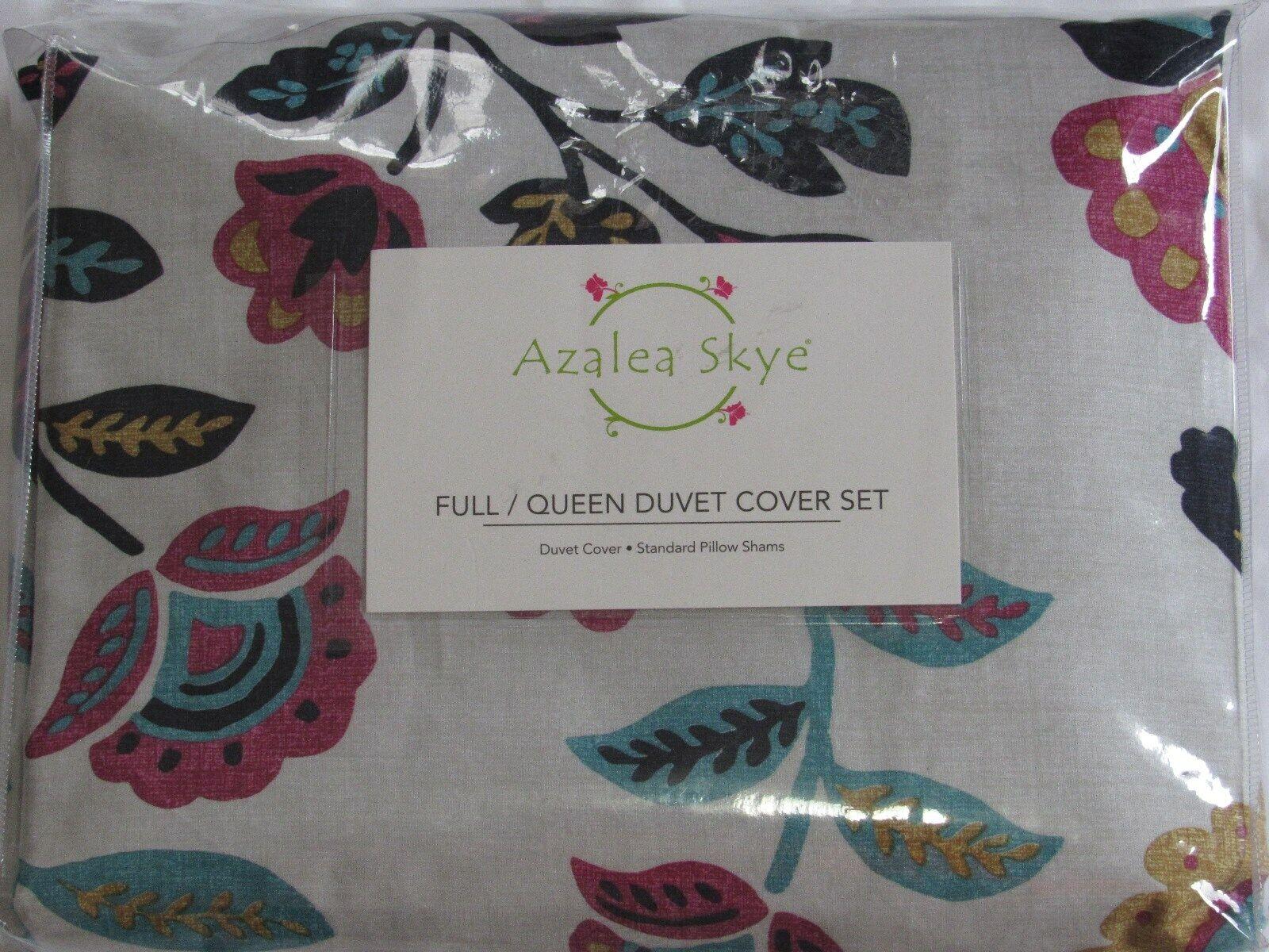 Azalea Skye Mina F Q Duvet Cover Set birds multi color full queen polyester new