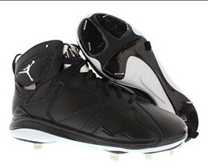 new products 83b2e b78c4 Details about AIR JORDAN 7 RETRO VII BASEBALL METAL CLEAT Size 15 BLACK  WHITE 684943 010